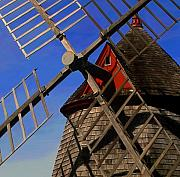 Eastham Posters - Windmill  Closeup Poster by Sue  Brehant