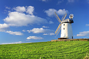 Featured Tapestries Textiles Posters - Windmill Poster by Drew McAvoy