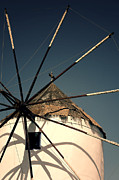 Wings Photos - windmill Greece by Joana Kruse