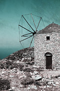 Aegean Sea Photos - Windmill by Joana Kruse