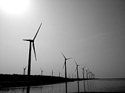 Wind Turbine Photos - Windmill by Nadia Hung