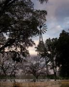 Kerrville Posters - Windmill with Water  Poster by Karen Musick