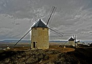 Grau Framed Prints - Windmills - Consuegra Framed Print by Juergen Weiss
