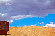 Molly Heng Metal Prints - Windmills Metal Print by Molly Heng