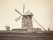 Pre-19th Prints - Windmills Near Omsk, Siberia Print by Everett