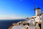 Jeff Rose - Windmills of Oia Greece