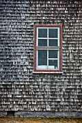 Wood Shingles Posters - Window-2 Poster by Christine Sharp