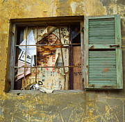 Window Bars Prints - Window and rubbish Print by Daniel Blatt