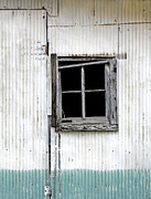 Country Chic Posters - Window and Rust Poster by Glennis Siverson