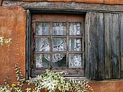 Adobe Framed Prints - Window at Old Santa Fe Framed Print by Kurt Van Wagner