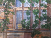 Education Paintings - Window at Yale by Linda Smith