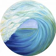 Surfing Art Paintings - Window Barrel by Moira Gil