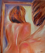 Dressing Room Paintings - Window Dressing by Sandy Ryan