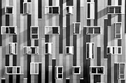 Glass Wall Photo Framed Prints - Window Facade Framed Print by Gabriel Sanz (Glitch)