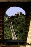 Asian Art Prints - Window Great Wall Print by Bill Bachmann - Printscapes