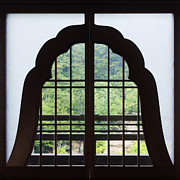 Miyajima Framed Prints - Window in a Shinto Temple Framed Print by Jeremy Woodhouse
