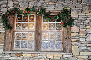 Garlands Framed Prints - Window In The Old Mill Framed Print by Jan Amiss Photography