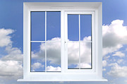 Glazing Posters - Window in the sky Poster by Richard Thomas