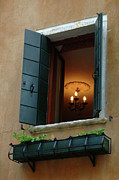 Venice Photo Framed Prints - Window In Venice Italy Framed Print by Bob Christopher