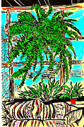 Rain Drawings - Window Loving Fern by Al Goldfarb