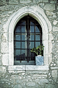 Mesh Prints - Window Of A Chapel Print by Joana Kruse