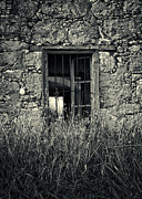 Cabin Window Prints - Window Of Memories Print by Stylianos Kleanthous