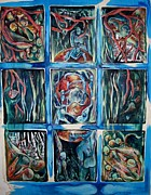 Figures Reliefs Framed Prints - Window of Opportunity Framed Print by Carol Rashawnna Williams