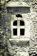 Wall Stone Wall Framed Prints - Window Of Stone Framed Print by Joana Kruse