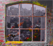 Vancouver Digital Art Prints - Window of Vancouver Print by Dale Stillman