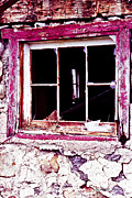 Flagstone Framed Prints - Window on an Abandoned Barn Framed Print by Gordon Wood