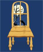 Animal Humor Prints - Window Seat Print by Laura Brightwood