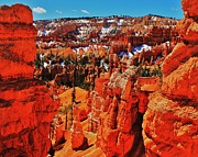 Ravine Framed Prints - Window to Bryce Framed Print by Benjamin Yeager