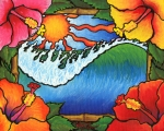 Surfer Art Originals - Window to the Tropics by Adam Johnson