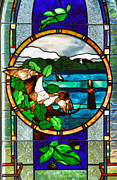 Stained Glass Window Photos - Window Trinity Church II by Steven Ainsworth
