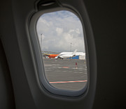 Airline Industry Photo Posters - Window View on an Airplane Poster by Jaak Nilson