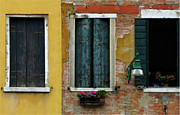 Venice Photo Framed Prints - Window Wall Venice Framed Print by Bob Christopher