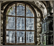 Architecture Framed Prints - Window with a View Framed Print by Joan Carroll