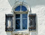 White Walls Metal Prints - Window with Shutters Metal Print by Marion McCristall