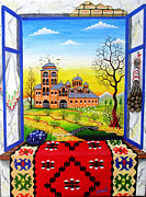 Serbian Painting Originals - Window by Zoran Zaric