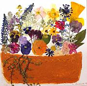 Stucco Mixed Media Posters - Windowbox Poster by Lisabeth Billingsley