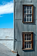 Abandoned Buildings Framed Prints - Windows in a Wall with Metal Siding Framed Print by Eddy Joaquim