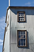 Rundown Barn Framed Prints - Windows in Abandoned Building Facade Framed Print by Eddy Joaquim