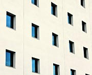 Office Space Photo Framed Prints - Windows In An Office Building Framed Print by Design Pics / Ken Welsh