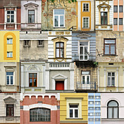 White Frame House Prints - Windows Print by Jaroslaw Grudzinski