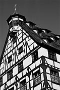 Gebaeude Metal Prints - Windows ... Metal Print by Juergen Weiss