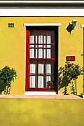 Painted Glass Posters - Windows of Bo-Kaap Poster by Benjamin Matthijs