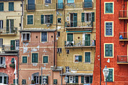 Genoa Metal Prints - Windows of Camogli Metal Print by Joana Kruse