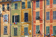 Houses Framed Prints - Windows of Portofino Framed Print by Joana Kruse
