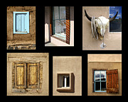 Photo Collage Photo Prints - Windows of Taos Print by Ann Powell