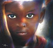 African-american Digital Art Prints - Windows To The Soul Print by Bob Salo
